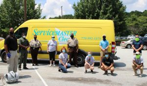 ServiceMaster by Lovejoy decontaminated more than 100 vehicles for the Newton County Sheriff's Office
