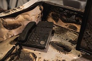 Burnt Office Equipment